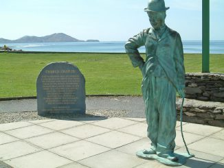 Waterville Ireland Charlie Chaplin Sculpture