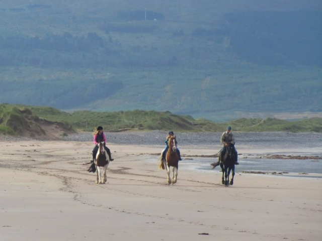Horse Riding on a Beach near Castlegregory