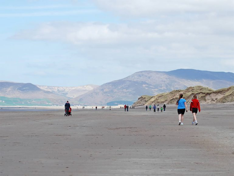 Walkers on the Beach near Glenbeigh