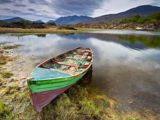 Boat on Lakes of Killarney