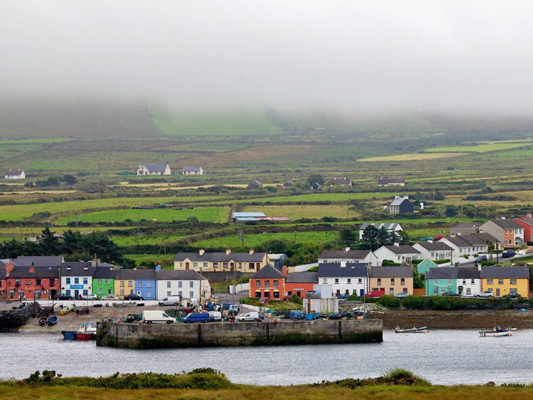 Portmagee from across the bay