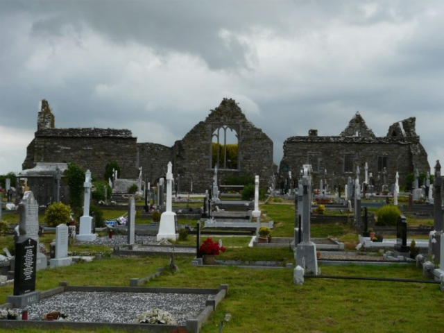 Lislaughtin Abbey and Graveyard by Loz Pycock