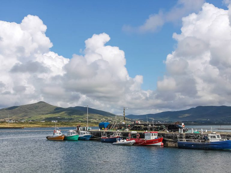 Boats at Valentia Pier