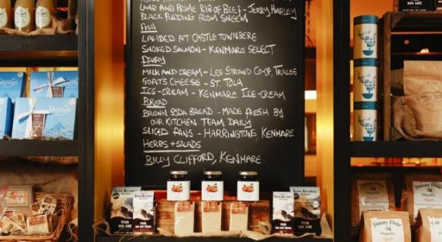 Brook Lane Hotel Kenmare Menu Board