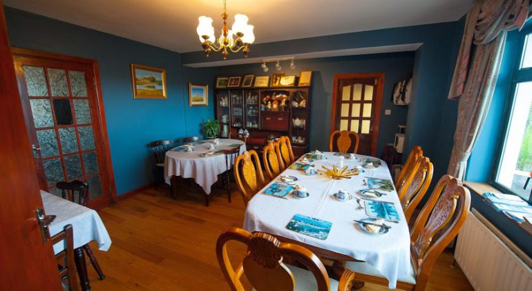 Castle View Ballylongford Bed and Breakfast Dining
