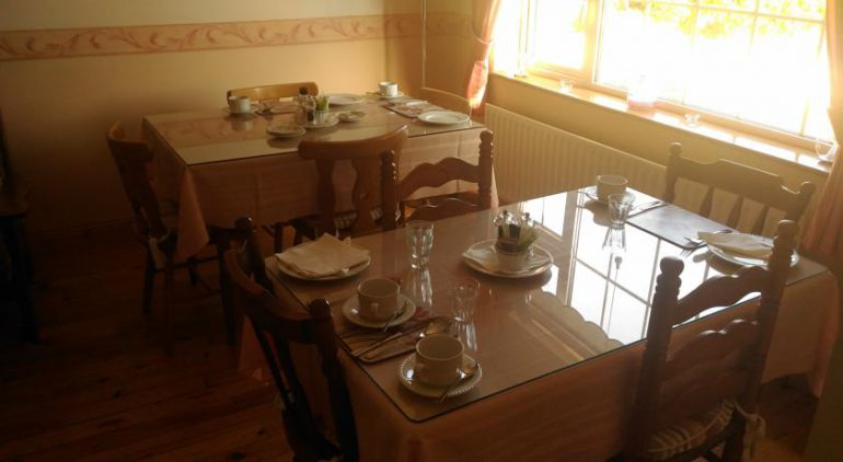 Conn Oriel B&B Tralee breakfast