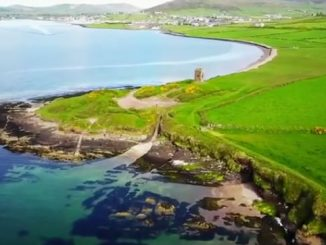 drone footage of dingle peninsula