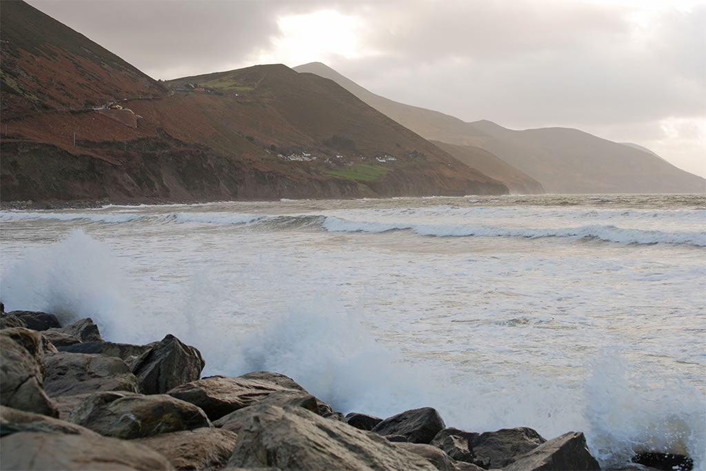 rossbeigh beach New Year's Day 2018