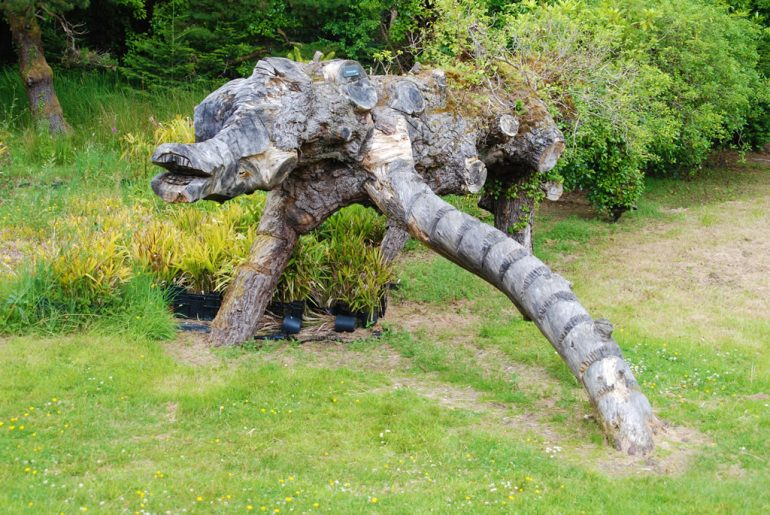 monster tree sculpture at Kells Bay House Ring of Kerry