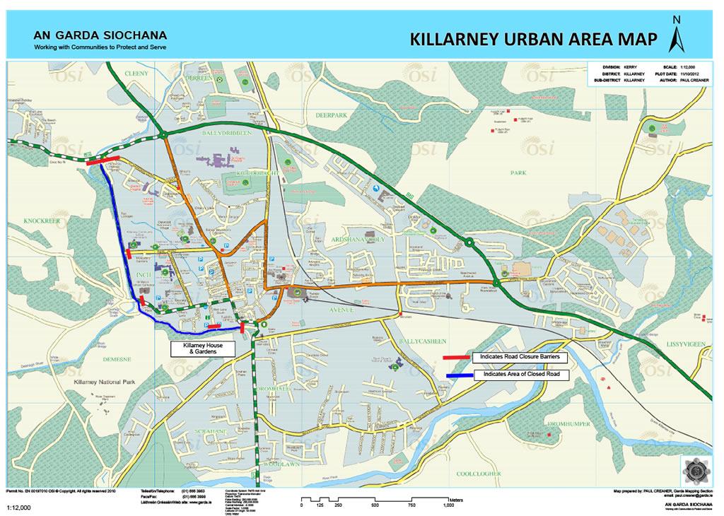 killarney road closures for royal visit
