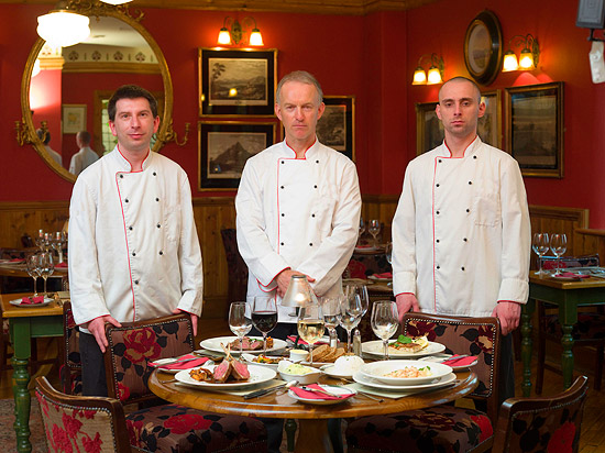 The chefs at Bricín Restaurant in Killarney