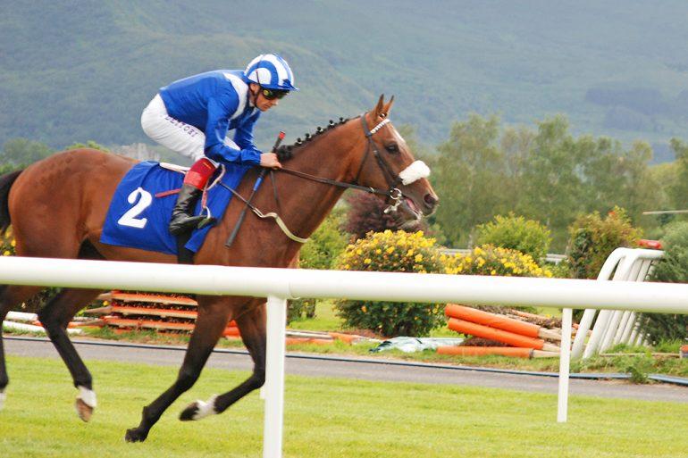 Frankie Dettori rides Mujid at Killarney